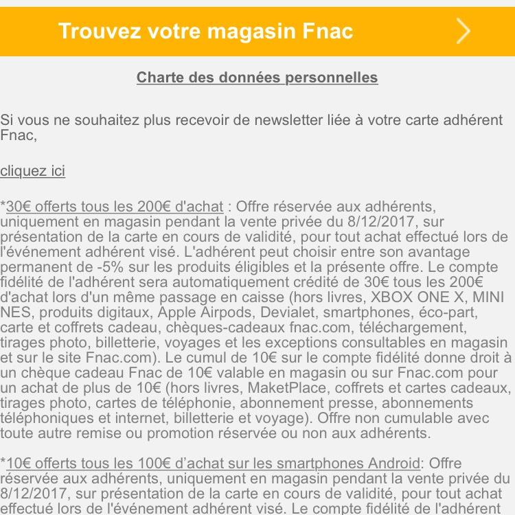 Adhérents Fnac 30 Tous Les 200 Dachat Hors Livres Et Téléphonie