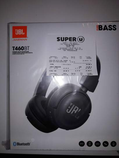 Casque Bluetooth Supra-Aural JBL T460 BT
