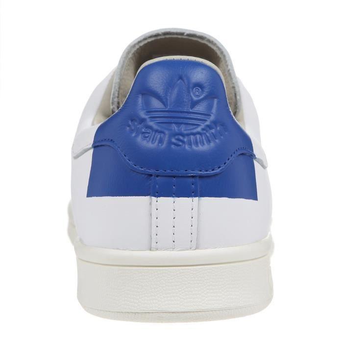 Chaussures adidas Stan Smith Heel patch blanc bleu (du