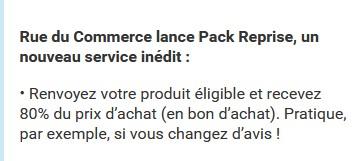 Votre avis sur le Pack Reprise RueduCommerce ? –