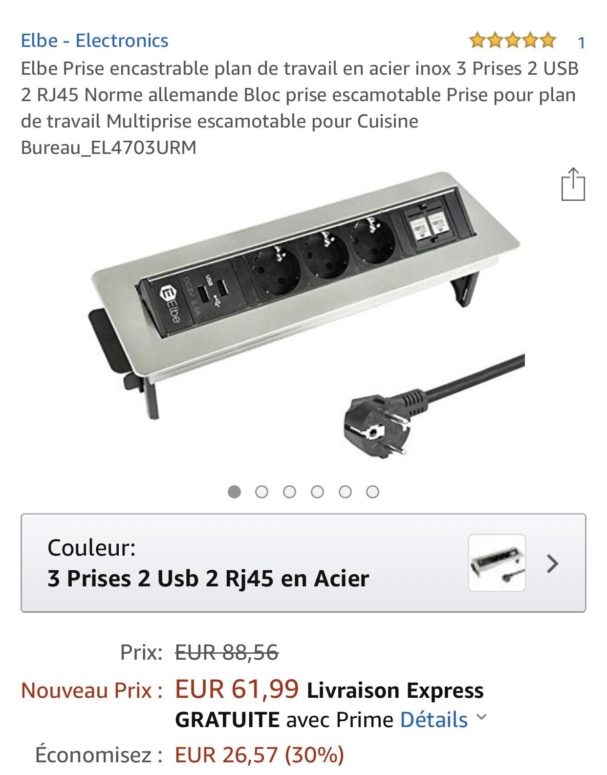 Prise Double Escamotable Intensitet Villier Sur Marne 94