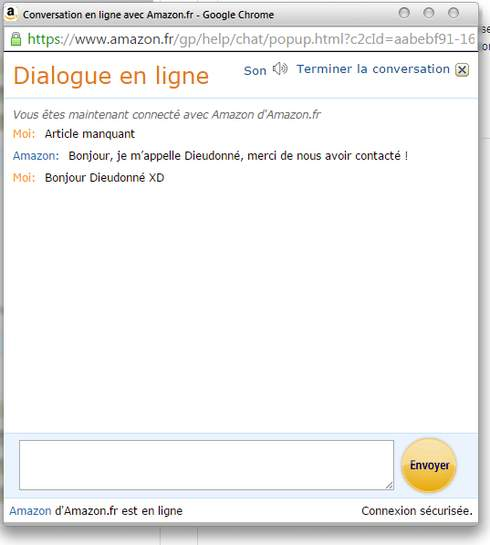 CARTE REJETTÉE CHEZ AMAZON COMMENT REGLER