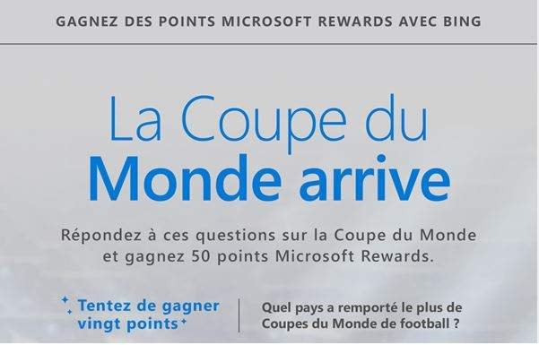 Programme Microsoft Rewards ou comment gagner un an d