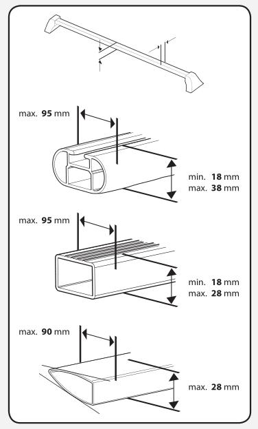coffre de toit bermude 4100 noir pour autos 410l. Black Bedroom Furniture Sets. Home Design Ideas