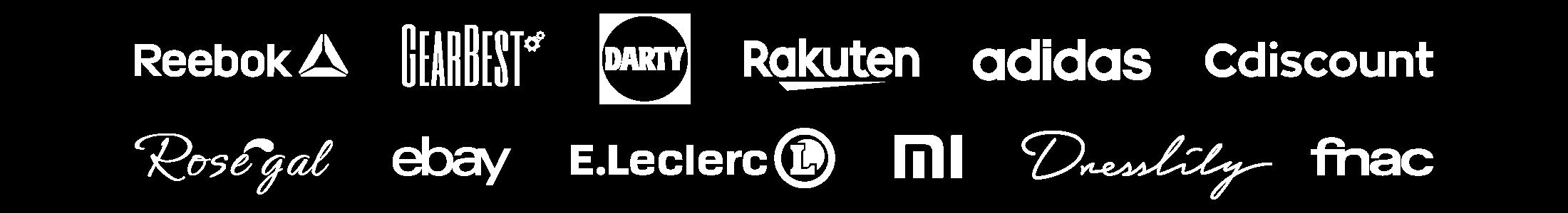 Logos des marchands pour Cyber Monday 2018