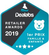 ToysRUs, gagnant dans la catégorie Famille & enfants des retailer awards organisés par Dealabs