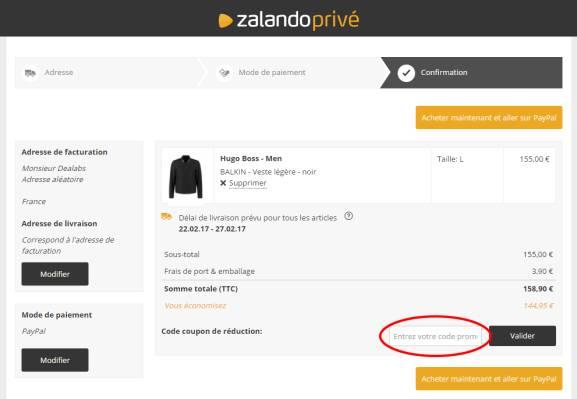 Code promo Zalando Privé ⇒ Réductions novembre 2019