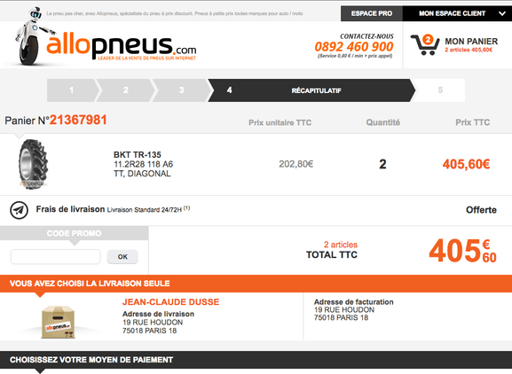 allopneus – utiliser un code promo – Dealabs