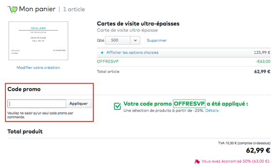 Vistaprint Utiliser Un Code Promo Dealabs