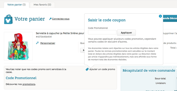 disney store – utiliser un code promo – Dealabs