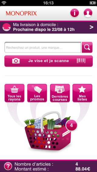 monoprix – application mobile – Dealabs