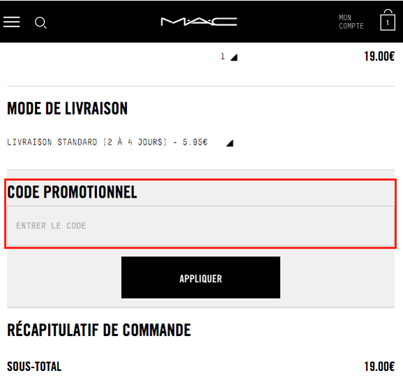 MAC cosmetics – Code promo, mode d'emploi – Dealabs