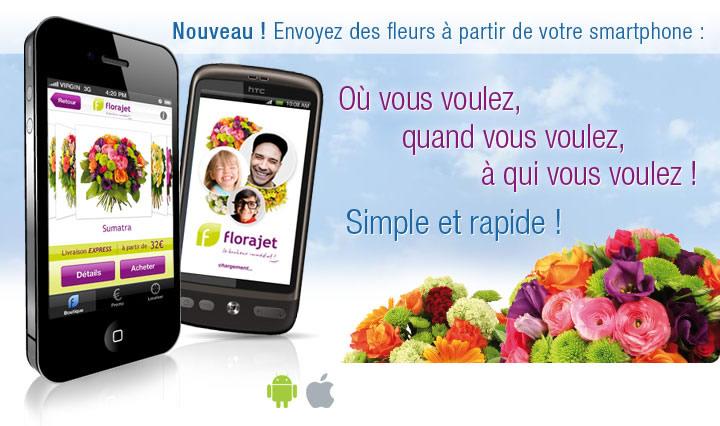 florajet – application mobile pour trouver des fleurs partout – Dealabs