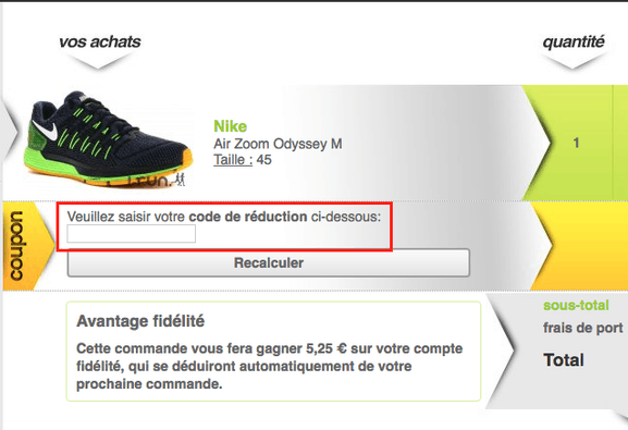 i-run – utiliser un code promo – Dealabs
