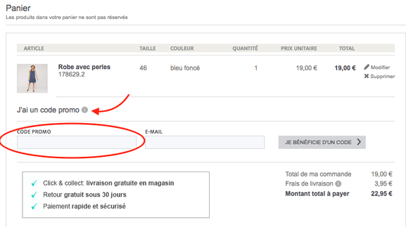 C&A – Utiliser un code promo – Dealabs