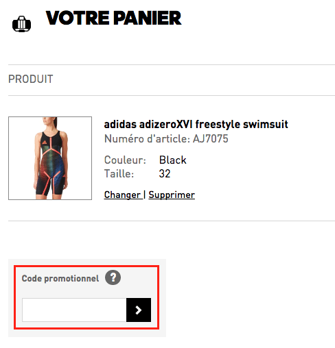 adidas specialty sports – utiliser un code promo – Dealabs
