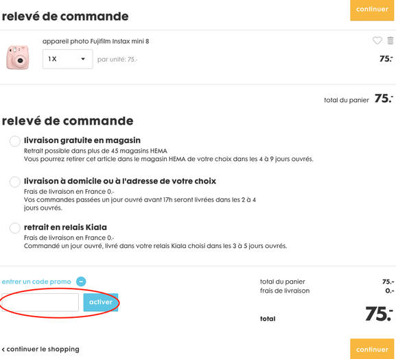 hema – utiliser un code de réduction – Dealabs