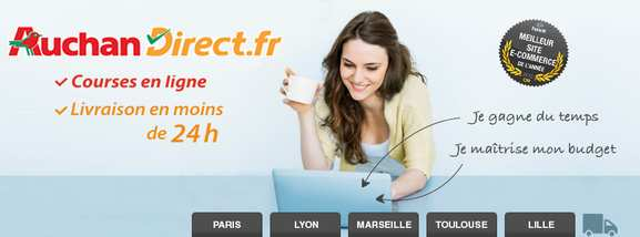 Auchandirect – faire vos courses en ligne – Dealabs