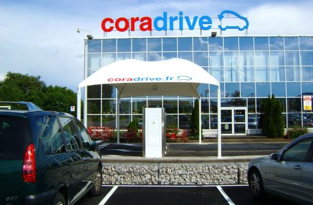 Cora Drive – Récupérer ses courses à la borne – Dealabs