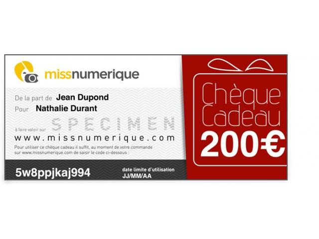 missnumerique – cheque cadeau – Dealabs