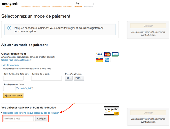 Amazon – Utiliser un code promo sur Amazon – Dealabs