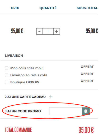 Oxbow – code promo – Dealabs