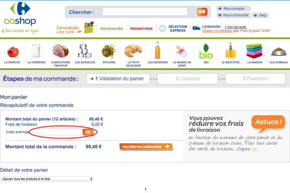 Carrefour – utiliser un code promo – Dealabs