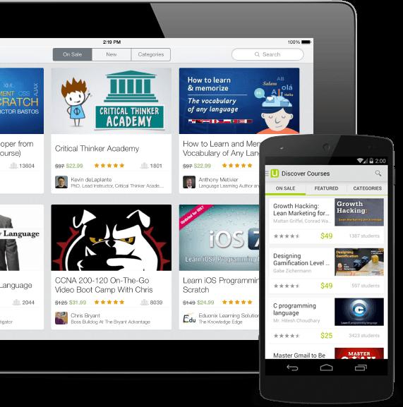 udemy – appli mobile pour vos cours en ligne – Dealabs