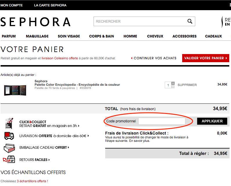 sephora – utilisez un code promo – Dealabs