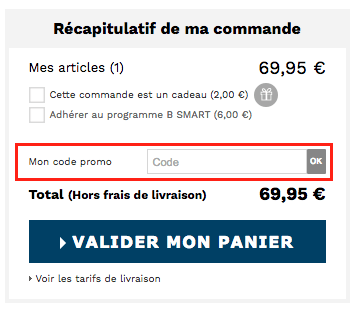 brice – utiliser un code promo – Dealabs