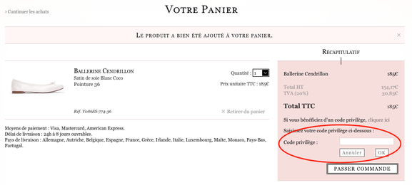 Repetto – code promotionnel – Dealabs