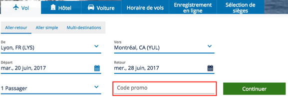 Air transat – code promo – Dealabs