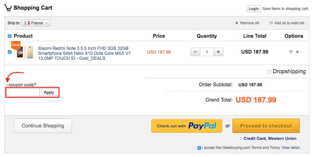 geekbuying – utiliser un coupon code promo – Dealabs