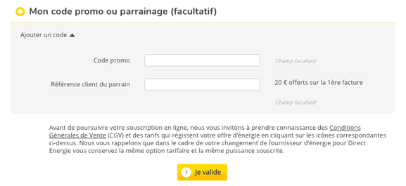 Direct Energie – code promo – Dealabs
