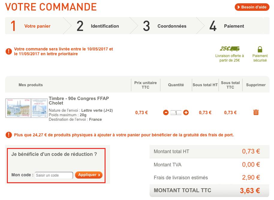 La Poste – code promo – Dealabs