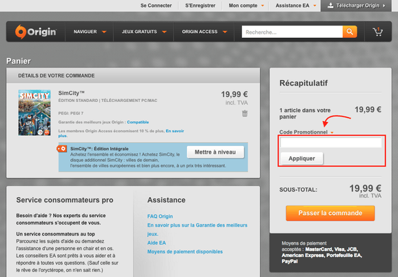 origin – utiliser un code promo – Dealabs
