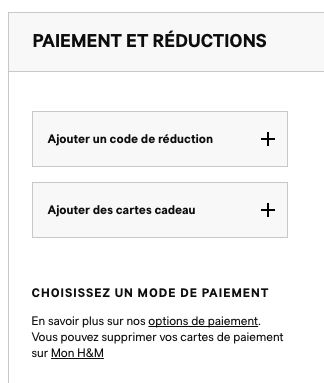 H&M – code de réduction – Dealabs
