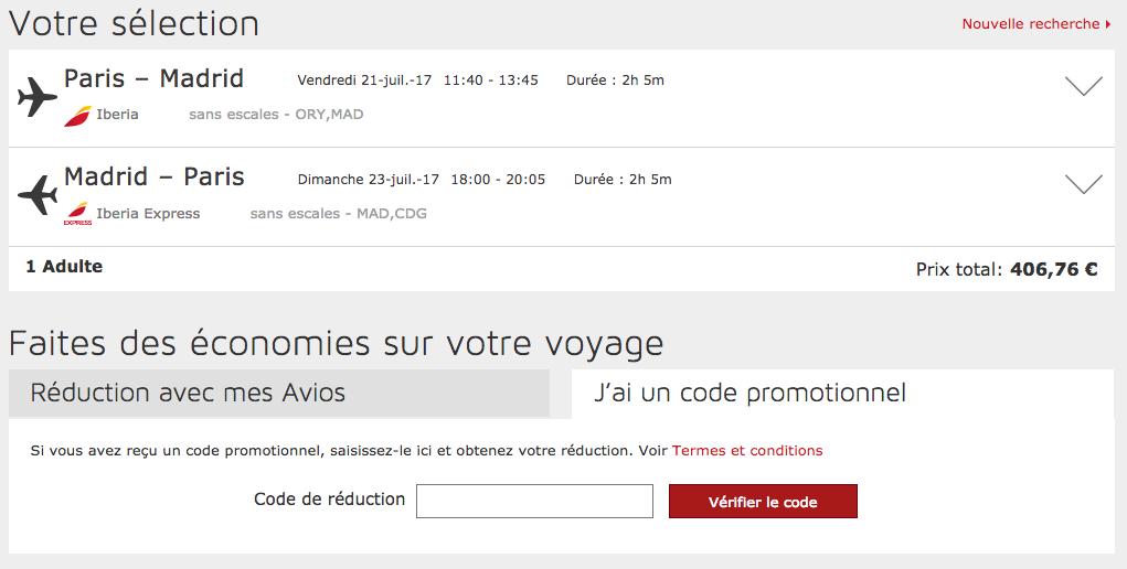 Iberia – code promo  – Dealabs