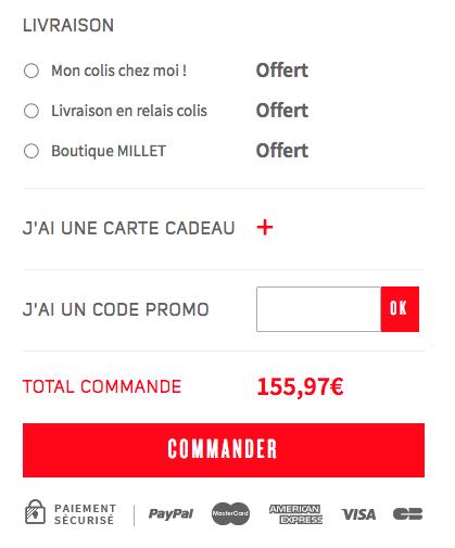Millet – code promo – Dealabs