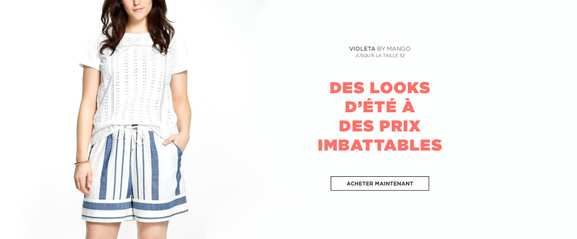mango outlet – la gamme violeta by mango en promotion – Dealabs
