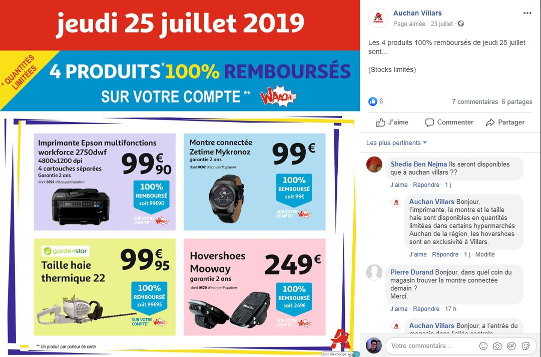 Carte Accord Auchan Compte Waaoh.3 Produits 100 Rembourses Sur Le Compte Waaoh Ex