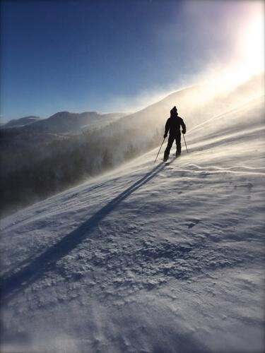 Personne qui ski