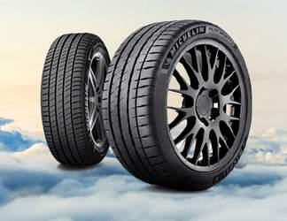 Pneus de tourisme Michelin dans les nuages
