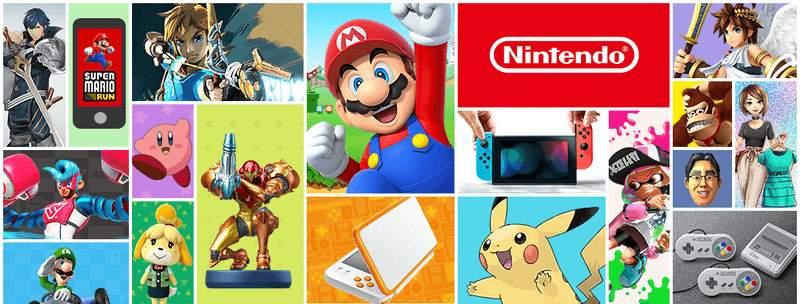 Pèle-mêle avec jeux Nintendo