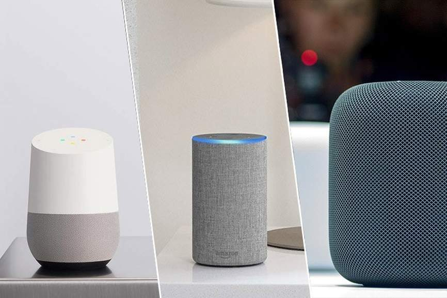 Google Home, Amazon Echo et Apple