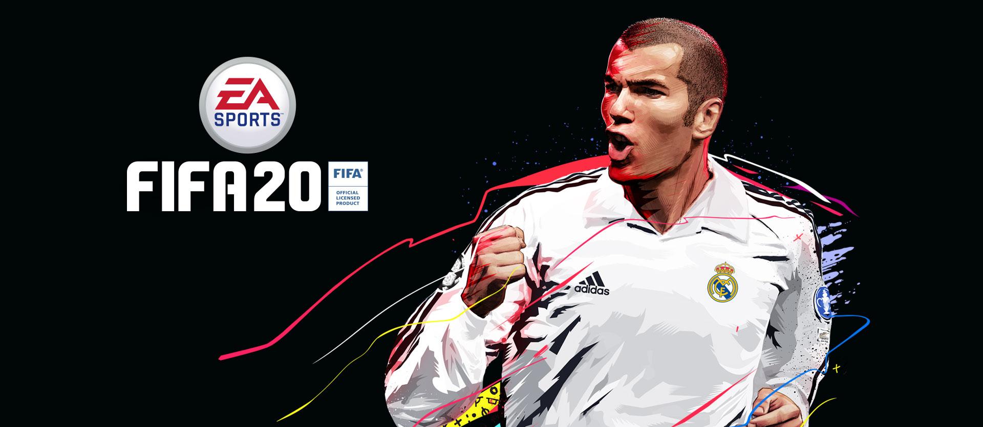 couverture de fifa 20 Ultimate avec Zinedine Zidane