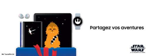 Un Smartphone, une tablette et une smartwatch sur le thème Starwars