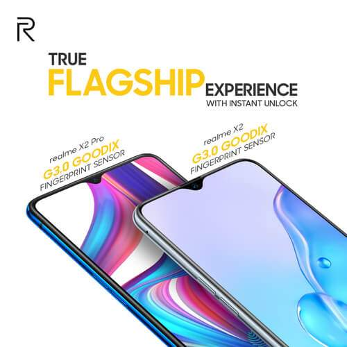 Deux smartphone, le X2 et X2 Pro sur fond blanc
