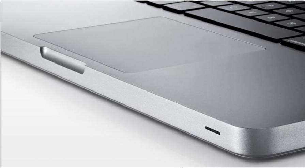 plan rapproché du track pad d'un macbook pro