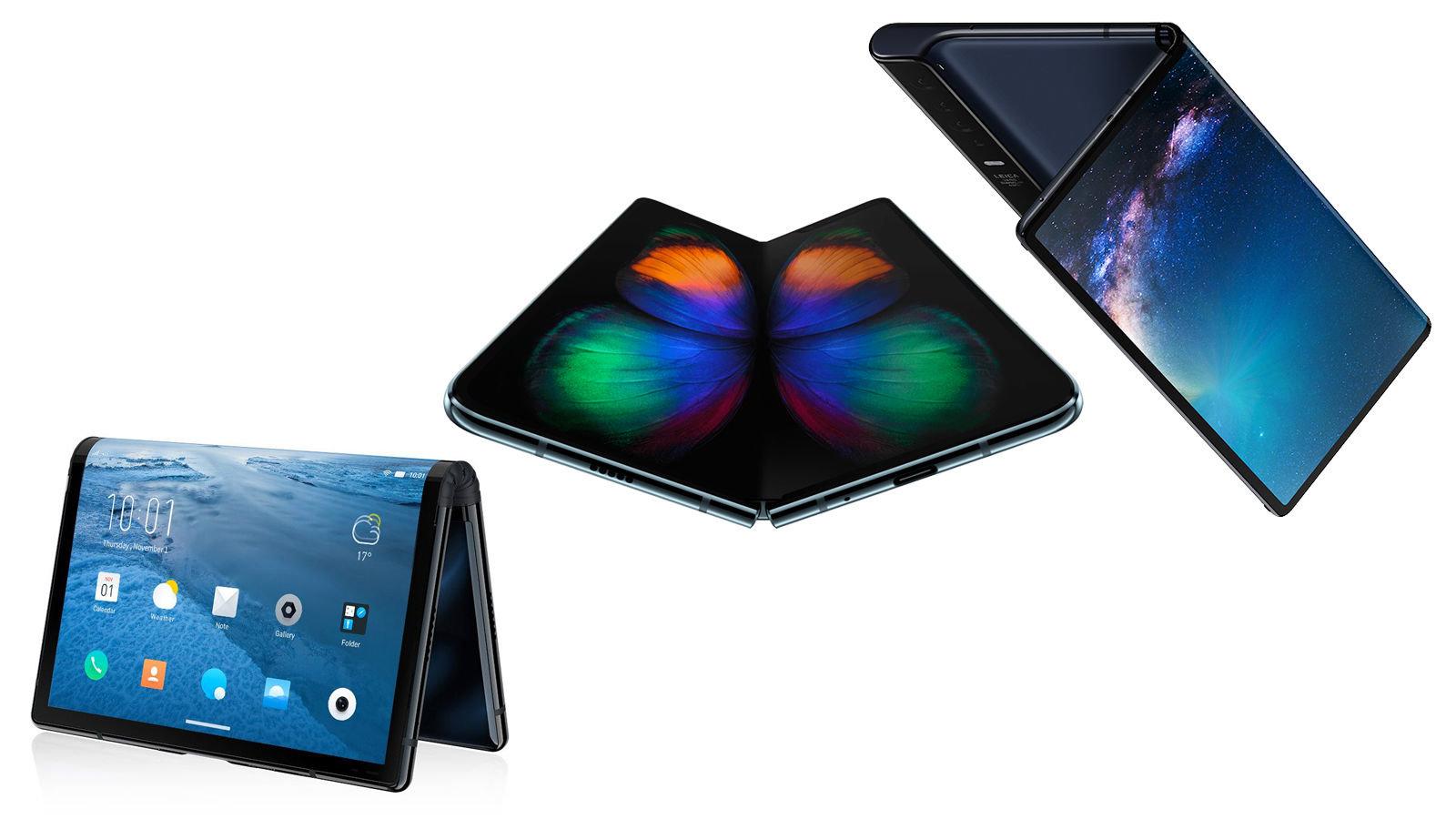 Smartphones pliants Royole Flexpai, Galaxy Fold et Huawei Mate X